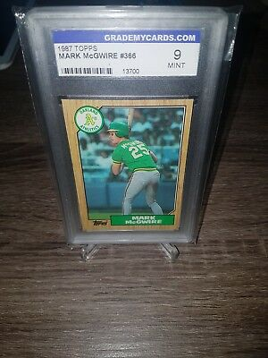 1987 topps Mark McGwire rookie