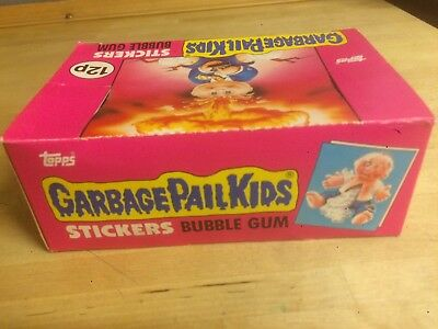 Empty Box For UK Garbage Pail Kids Series 1 1985 Sticker Packs Vintage Topps