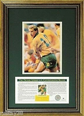 Michael Lynagh Wallabies Hand Signed Framed Limited Edition Print