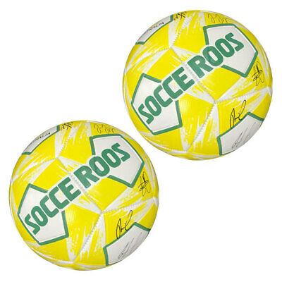 2x Summit Global Heritage Socceroos Soccer/Football Sports Ball Size 1 Signature