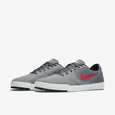 5c245df001df38 Nike Paul Rodriguez 9 CS SB 749555-060 Dark Grey Univ Red Skateboard QS Size