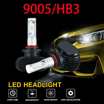 CSP 9005 HB3 H10 LED Headlight Bulb Conversion Kit 8000LM 6500K Xenon White Pair