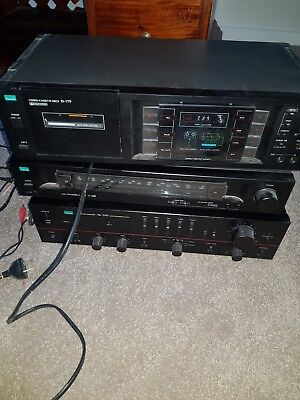 stereo cassette deck d-77f with vintage surround sound system