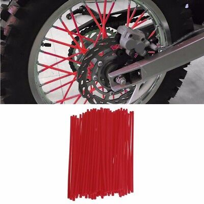 72x RED Spoke Wrap Covers 4 Kawasaki KLX250 KX85 KX125 KX250 KX500 KX250F