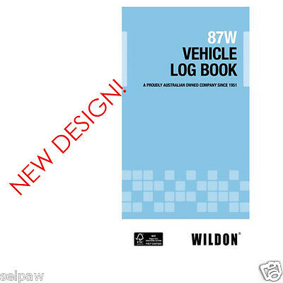 Vehicle Log Book  Wildon 87W BLUE WIL087 record travel for ATO tax purposes 50