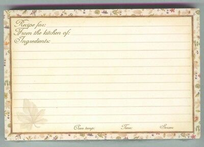 15 Longaberger Botanical Flowers Recipe Cards 4 x 6 New in zip bag free ship