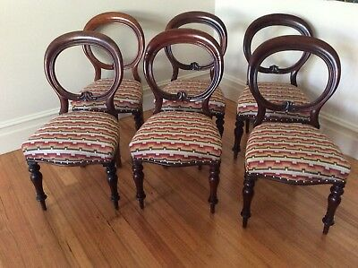 Set Of 6 Victorian Balloon Back Chairs