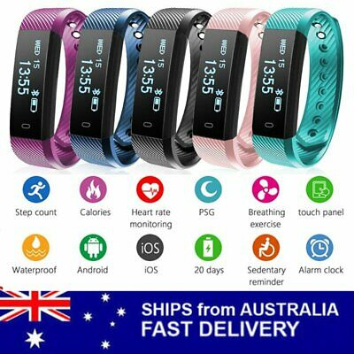 2018 Bluetooth Smart Bracelet Sport Watch Step Calorie Counter Tracker Pedometer