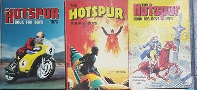 The Hotspur book for boys collection vintage 1973, 1975, 1976