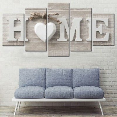 UK 5 Panels Huge Modern Canvas Print Pictures Painting Wall Art Wall Home Decor