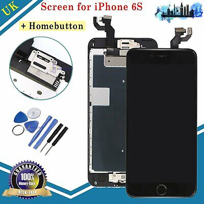 For iPhone 6S LCD Touch Screen Digitizer Display Home Button Replacement Black