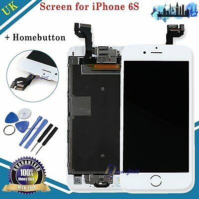 For iPhone 6S LCD Touch Screen Digitizer Display Home Button Replacement White