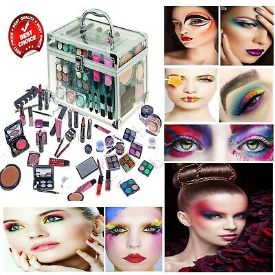 Technic Essentials Clear Carry Case Cosmetics Box Make-Up Gift Set Kit w/ Mirror