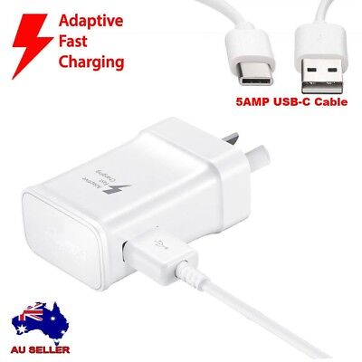 For SAMSUNG 9V ADAPTIVE FAST Wall Charger With USB-C Cable For Galaxy S8/S9 Note