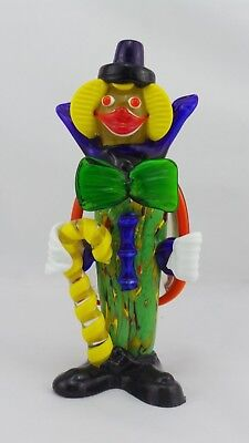Murano Style Glass Clown 21 cm Tall In Good Condition