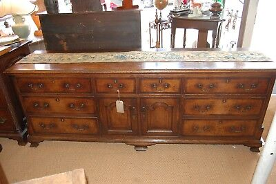Antique 18th century Oak Dresser Base