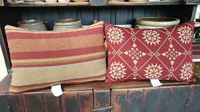 """NEW Family Heirloom Weavers pillow """"1838 Indiana Quaker"""" WOOL"""