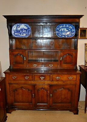 Antique An Exception Mid C18th Oak Dresser