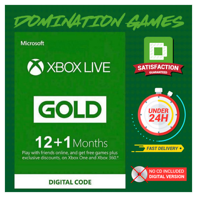 12 + 1 Month Xbox Live Gold Membership (Brazil Region Only)