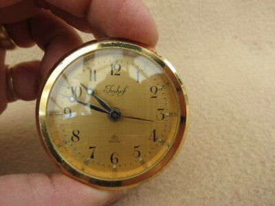 Small Vintage Imhof 8 Day 5 Cm Insert Clock Movement