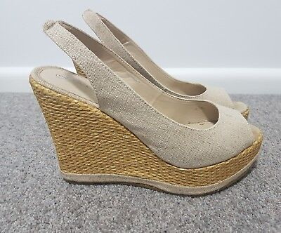 PAYLESS SHOES cream wedges heels size 9