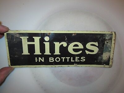 antique embossed hires root beer sign tin