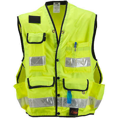 SECO Class 2 Lightweight Safety Utility Vest Medium Fluorescent Yellow