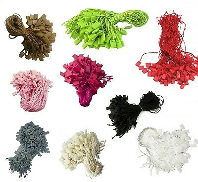 100pcs 18cm Nylon String Hang Tag Snap Lock Pin Loop Fastener Hook Ties Clothing