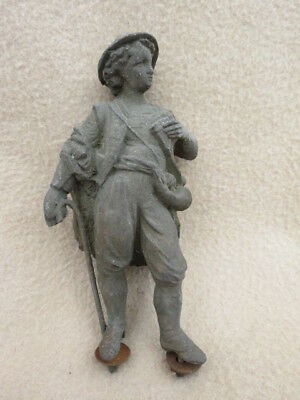 Antique Cast Spelter Gentleman Clock Figure