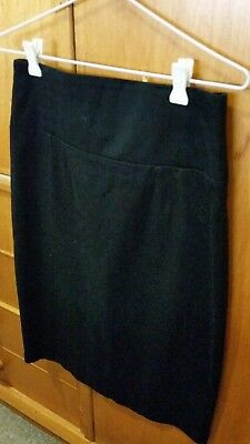 Womens Black Pencil Straight Skirt Size 12