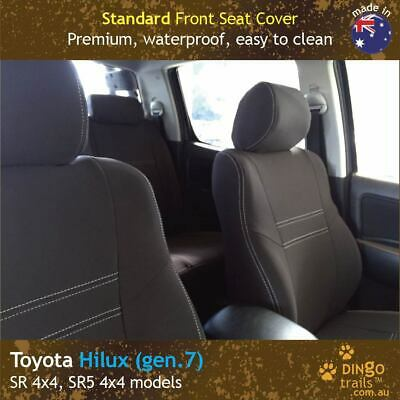 Fits Toyota Hilux (Apr09-Aug15) FRONT Premium Tough Neoprene Seat Covers