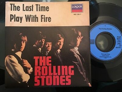 7'Rolling Stones >The last time/Play with fire< GERMANY LONDON