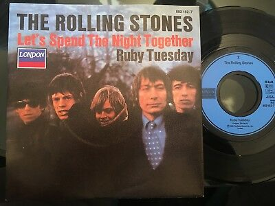7'Rolling Stones >Let's spend the night.../Ruby Tuesday< GERMANY LONDON