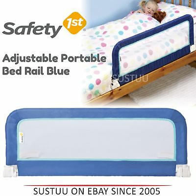 Safety 1st Adjustable Portable Bed Rail│Kid's Cot Side Barrier Protection│Blue│