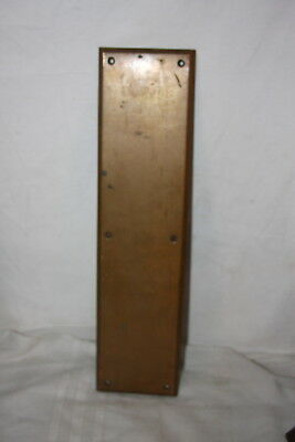 "Vintage Heavy Solid Brass Corbin Door Push Plate # 2342 4"" by 16"""