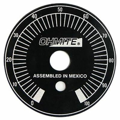 Ohmite Potentiometer Dial, Dial Type, Black, 6.35mm Shaft