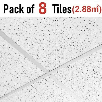 Fine Fissure Office Acoustic Suspended Ceiling Tiles 595x595 Full Box 600x600