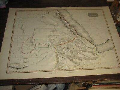 "1814 MAP Abyssinia Nubia by Cadell & Davis London Hand Colored 22 1/4"" x 32 1/4"""