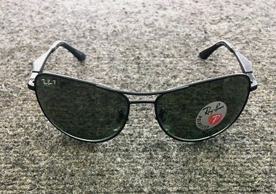 54178629f93 NEW RAY-BAN RB3519 006 9A 59-15-135 Black Green Classic Polarized ...