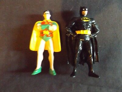Set Of Batman And Robin 3 inch standing pvc Figures 1989 Applause