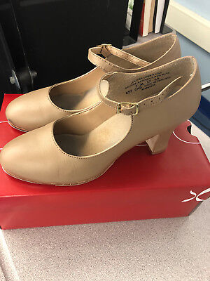 Genuine Capezio 657 Manhattan Xtreme Character Tap Shoes Tan Tap Leather
