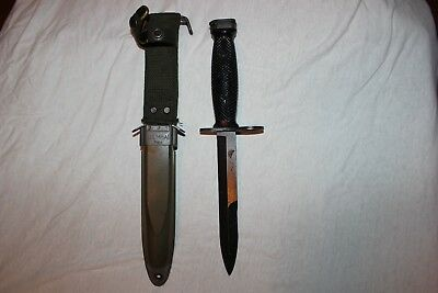 BOC M7 US Military Issue Vietnam Fighting Knife USMC Army with M8A1 Scabbard W3