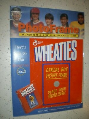 WHEATIES box PICTURE FRAME...holds 4x6 or 5x7 photo...never opened