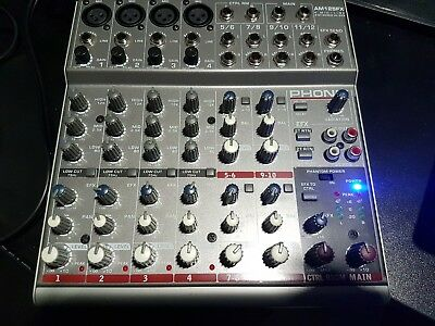 Phonic Am 125fx 4-MicLine 4-Stereo Compact Mixer Konsolen - Mischpult