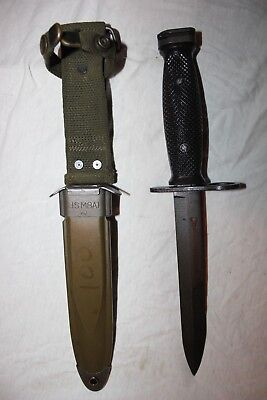 BOC M7 US Military Issue Vietnam Fighting Knife USMC Army with M8A1 Scabbard W9