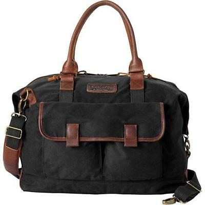 5384fdca71e ... new styles 79bd8 69354 Duluth Trading Company NEW Black Oil Cloth  Leather Weekender Travel Duffle Bag ...