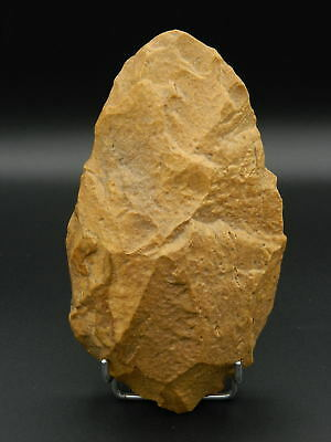 ANCIENT Quartzite HAND AXE - Acheulean Civilization - 18.5 cm LONG - Sahara