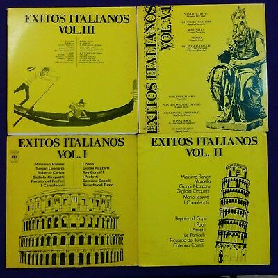 EXITOS ITALIANOS - LOT X 4 LPs - COMBO - I POOH  & MORE - VENEZUELA ISSUE