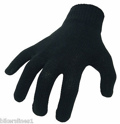 Bike It Thermal Cotton Inner Gloves One Size Fits All Motorbike Motorcycle Ski