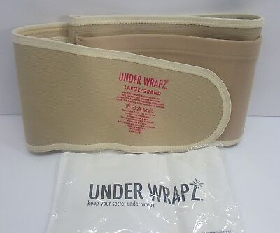 Under Wrapz, Belly & Back Support, Maternity Band, Nude, Large - Free Shipping